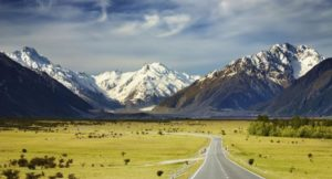 Mountain landscape of the Southern Alps