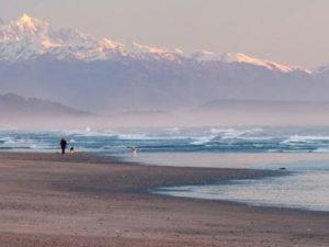 Hokitika Beach - from the ocean to the mountains