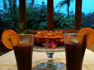 Tea with beautiful garden views